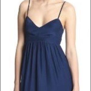 Amanda Uprichard Silk Dress in Cobalt/Navy